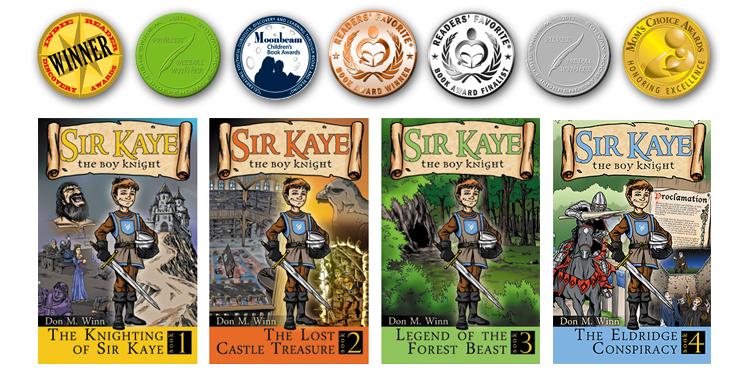 Sir Kaye books 1 to 4 plus awards 2017