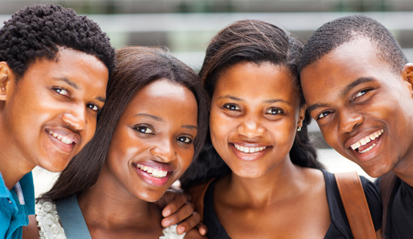 group of african american college students