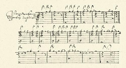 lute music tablature
