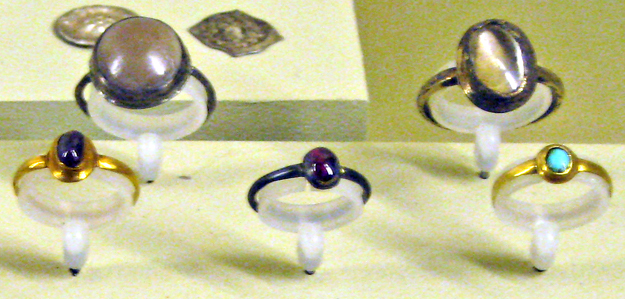 medieval rings cabochon cut 2