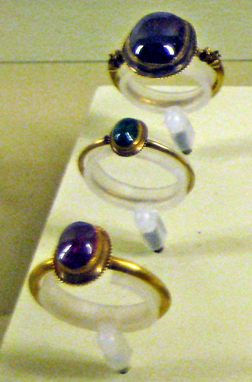 medieval rings cabochon cut
