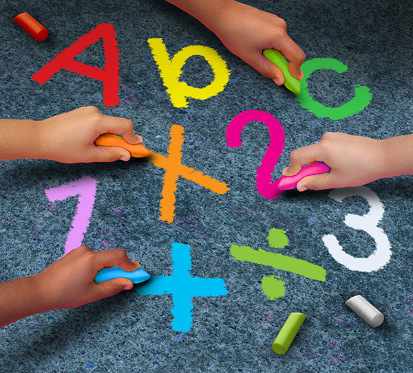 Drawing letters and numbers