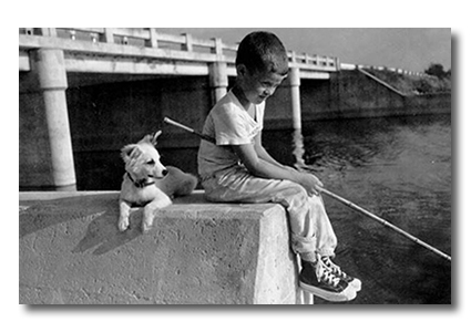 fishing with dog2