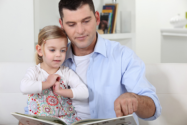 Father Reading with Daughter small