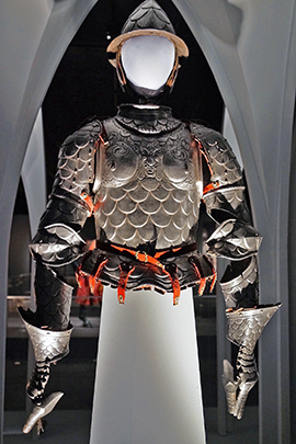 07 armor and helmet on display