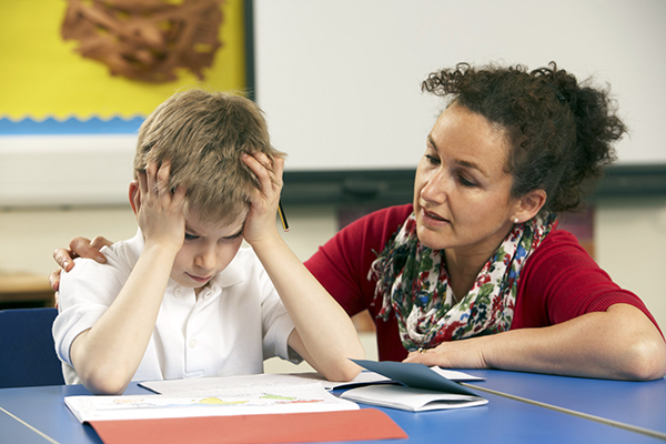 Frustrated Student and Teacher small