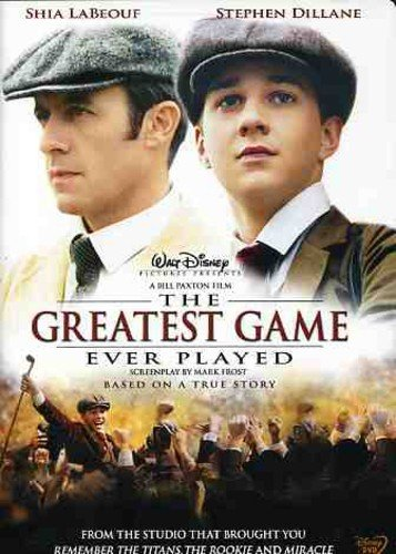 Poster for the movie The Greatest Game Ever Played starring Shia LaBeouf and Stephen Dillane.